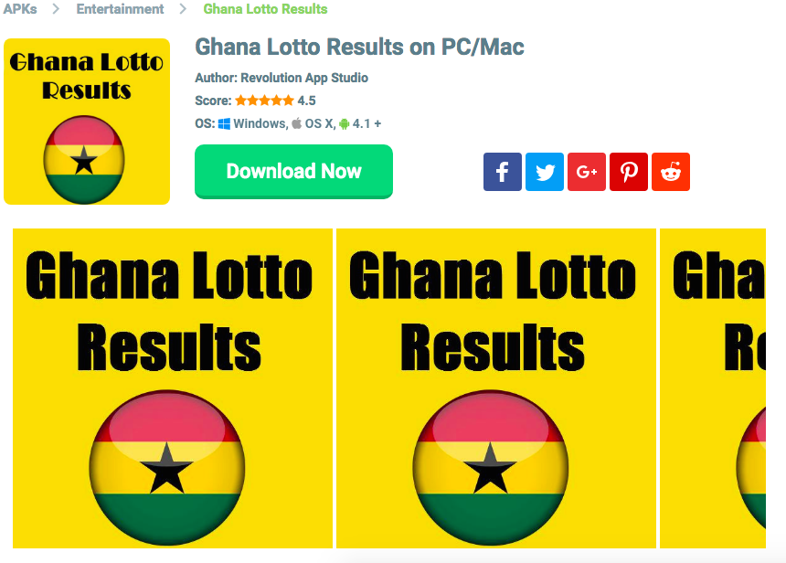 Ghana National Lotto Result Downloads