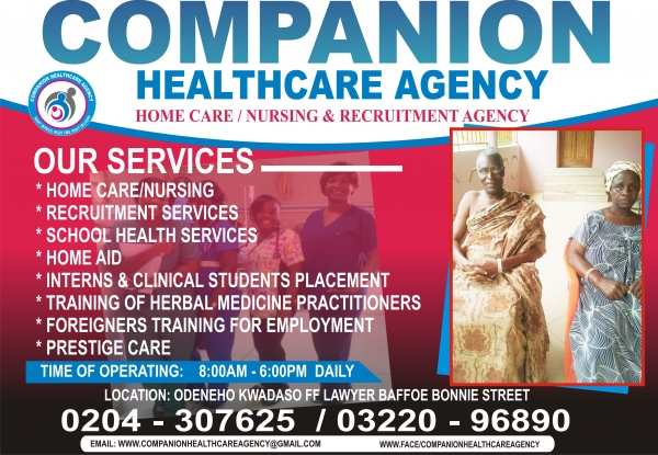 companion health care agency ltd  kumasi  ghana