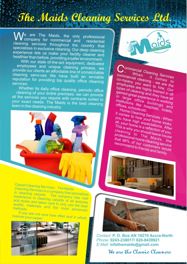 The Maids Cleaning Services Limited Accra Ghana